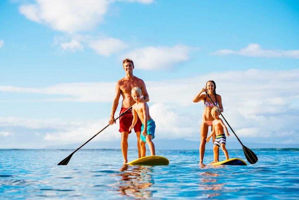 faire du paddle à 4
